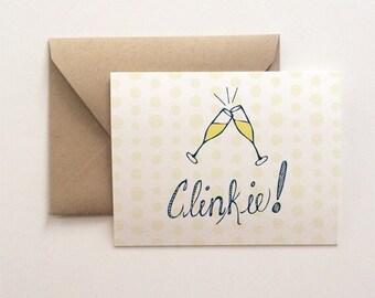 Clinkie Cheers Card