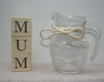 Handmade wooden letter blocks - MUM - the perfect, handmade mother's day gift