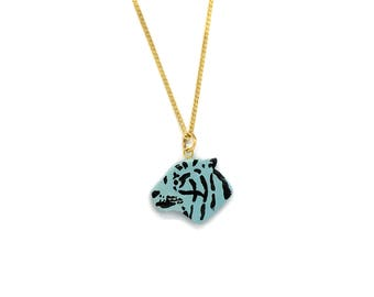 Tiger Necklace Celeste Collection indomitable//original and different gift for them//Hipster & Trendy