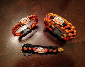 Houston Astros Inspired Classic Paracord Bracelet, Keychain or Set