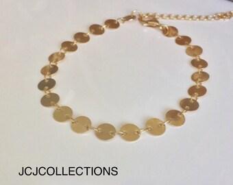 Gold Coin Bracelet