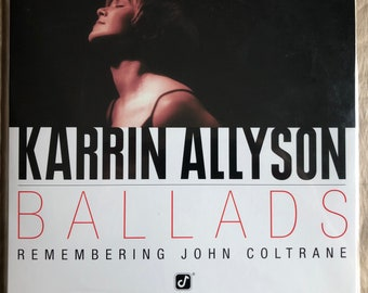 Karrin Allyson / Ballads - Remembering Coltrane - BLUE Colored Vinyl Record LP Album - Pure Audiophile PA-001 - Numbered - 180 Gram