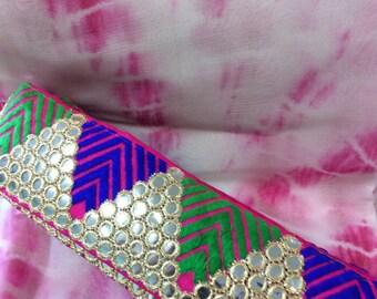 Multi color sari border