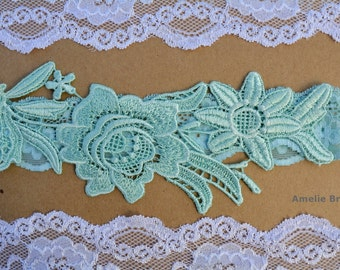 Wedding Garters, Mint Garter Set, Bridal Garter, Lace Wedding Garter, Wedding Garter Set, Wedding Garter Mint, Toss Garter, Handmade Bridal