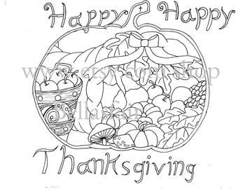 Coloring page, Thanksgiving coloring page,