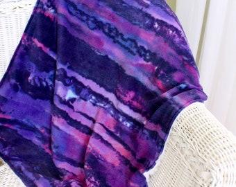 Purple Fleece Baby Blanket