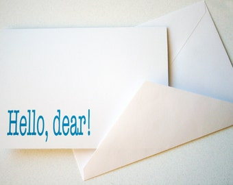 Stationery -- Hello, dear -- Card and Envelope Set