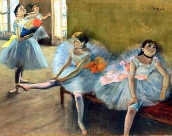 Degas dancers laminated placemat