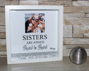 Personalised Sister Box Frame, Shadow Box Frame, Sister Gift, Gifts For Sisters, Best Friend, Gift For Sister, Sister Photo, Sister Birthday