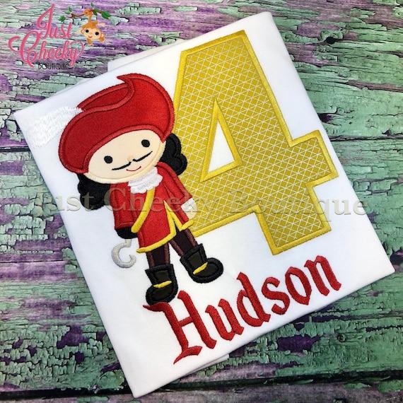 Captain Hook Cutie Embroidered Shirt - Neverland Inspired - Disney Vacation - 1st Disney Trip - Disney Birthday - Jolly Roger