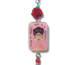 Frida Kahlo necklace Frida Kahlo gifts Frida pendants Frida necklace
