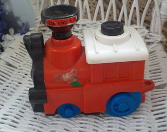 Collectible 1987 Playmates Wind-up Train Engine :)S