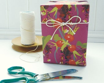 Gift Wrapping Paper - Pheasant Berry, Floral Paper