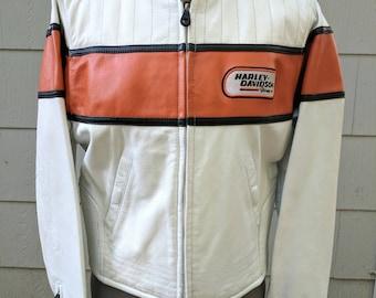 Harley Davidson Vintage Leather Motorcycle Racing Jacket