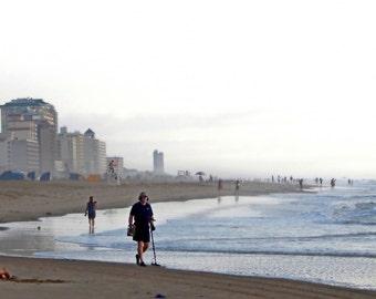 Day at the Beach Print, Virginia Beach Photography, Virginia Art, Beach Decor, Oceanfront Wall Art