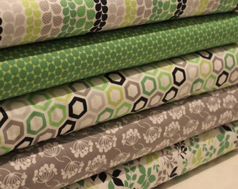 Camelot Green with Envy Fat Quarter Bundle - 100% Cotton, Quilting and Patchwork Fabric