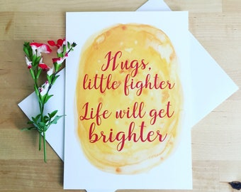 Friendship Support Card, Cheer Up Card, Encouragement Card, Life will Get Better Card, Thinking of You Card, Difficult Times Card, Hugs Card