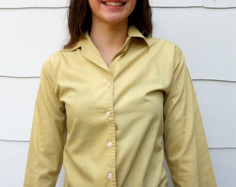 """Vintage 1950's Tan Blouse by """"Personal"""" (#17-6.5)"""