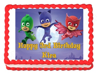 PJ Masks party decoration edible cake image cake topper frosting sheet