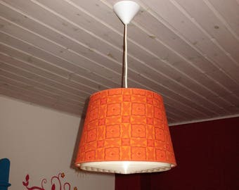Vintage Retro 70's Fabric Pendant Light