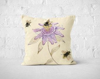 Passion Flower Cushion