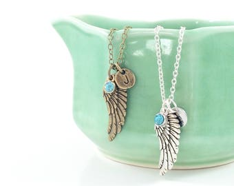 Angel Wing Necklace, Guardian Angel Necklace, Angel Jewelry, Memorial Jewelry, Sympathy Gift, Child Loss Gifts, Grief Gift Loss of Loved One
