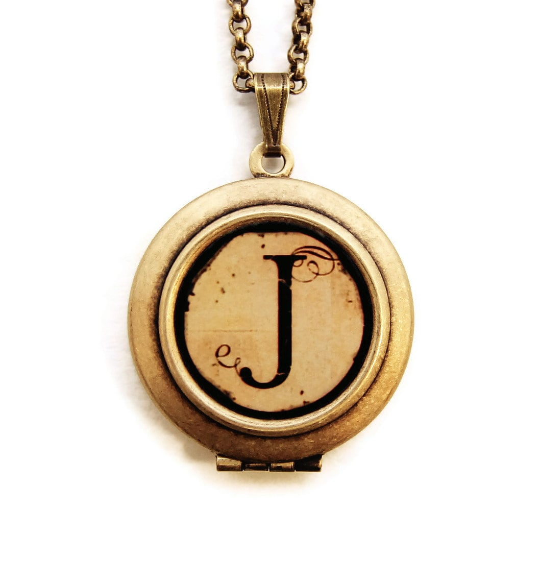monogram and monograms locket pin silver bling custom lockets jewel