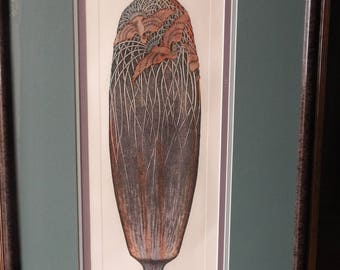 Exquisite Dan Mitra Limited Edition Large Framed Etching!