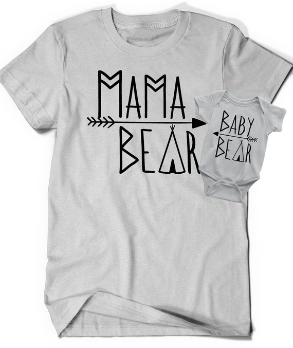 Mama Bear Baby Bear Shirts Bodysuit T Shirt Tee Infant Toddler Child Kid Gift New Mom Baby Shower Matching Mommies Cute Momma Mommy Reveal AMyr4ueYoI