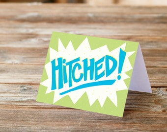 Hitched Wedding Engagement Greeting Card