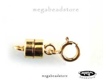 5 Sets Magnetic Clasp 14K Gold Filled Interchangeable Clasp with Spring Clasps F305GF