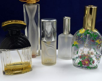 Vintage perfume bottles (empty) lot 1