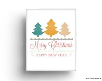Christmas printable wall art - Merry Christmas decor, wall art decor - 60% OFF