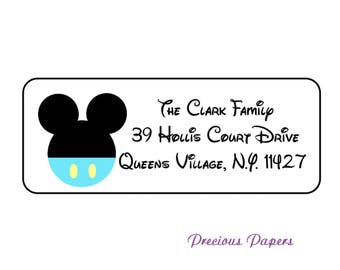 Personalized Mickey Mouse return address lables Baby Mickey Mouse stickers
