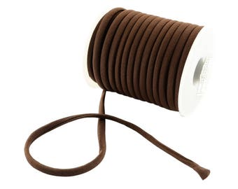 2 Meters Stitched Brown Color Lycra Cord, Soft And Thick Cord, Stretchy Nylon Lycra String, Elastic Cord 5 mm Sold in 2 & 5 meter Length