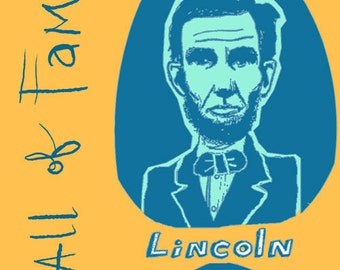 U.S. Presidential Facial Hair Hall of Fame ...giclée art print ... Lincoln • Roosevelt • hand lettered • humor • history • beard • mustache