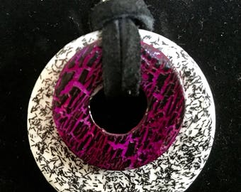 Metal washer necklace