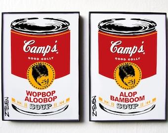 Little Richard Pop Art Soup Cans, framed original art set by Zteven