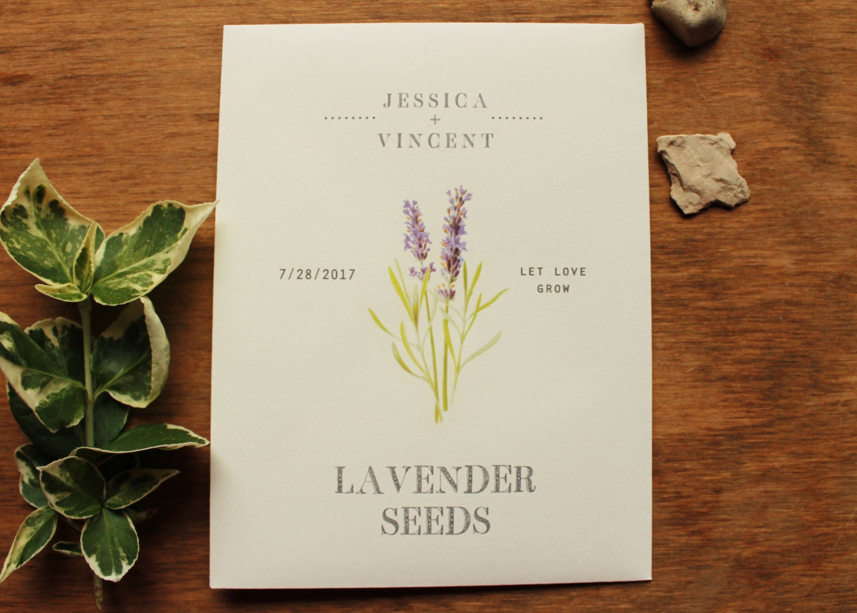 Lavender Seed Envelopes Seed Packet Wedding Favors for