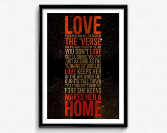 Firefly Quote Poster/Print (Dark) -Serenity, Love Quote, Browncoats, Malcolm Reynolds, Stay Shiny, Love Keeps Her In The Air, CtrlAltGeek