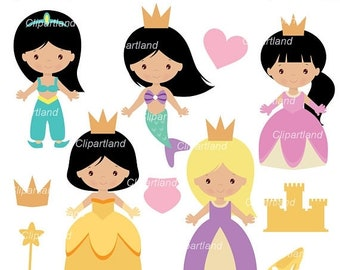 ON SALE INSTANT Download. Princess clip art. Cp_14. Personal and commercial use.