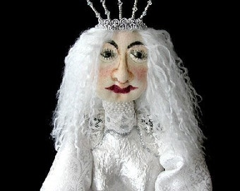 Art Doll-The White Queen  from Alice In Wonderland-Ooak  (Made to Order by Request)