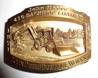 John Deere 410 Tractor Loader Backhoe Belt Buckle, Limited Edition