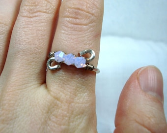 Wire Work Ring - Lilac - Swarovski Elements
