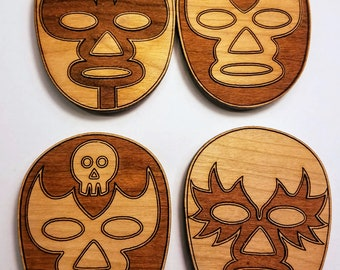 Mexican Wrestler Magnets (Set of 4)