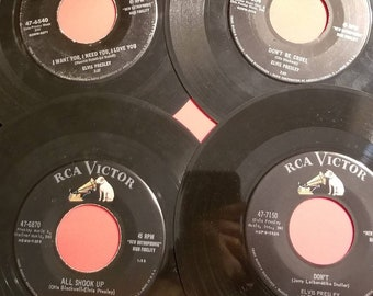 4 Elvis Presley RCA Victor 45 RPM All Shook Up Don't Be Cruel Don't I Want You I Need You various grades