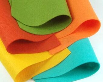 5 Colors Felt Set - Vacation - 20cm x 20cm per sheet