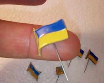 small circulation,small,flag icon,badge on lapel,set of 7 icons,deputy badge,memorable badge, Ukrainian flag,translation icon