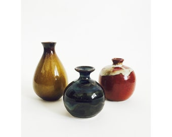 Collection of Mid Century Bud Vases / Set of 3