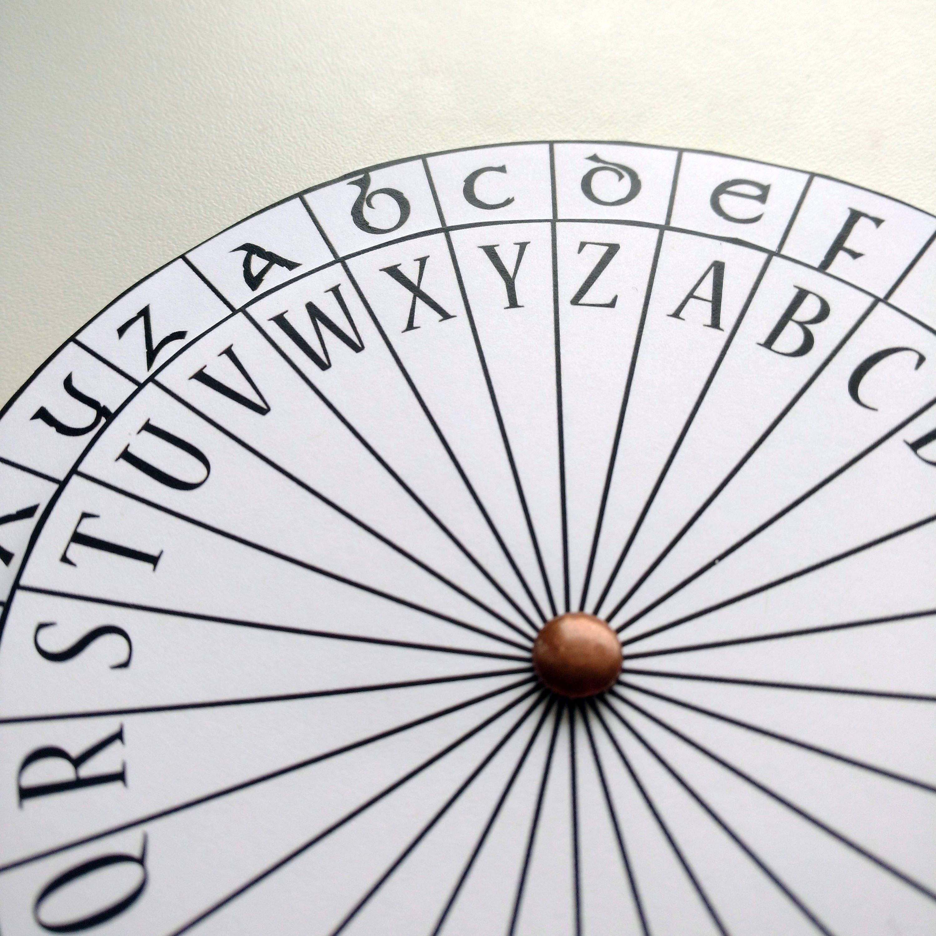 It's just a picture of Insane Printable Cipher Wheel